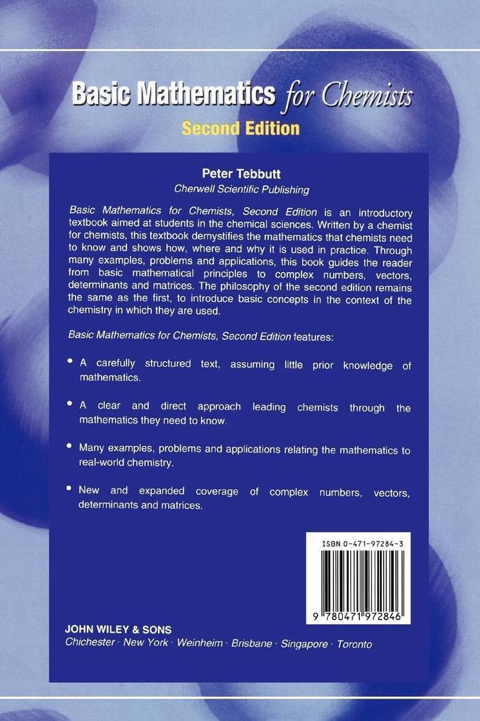 Basic Mathematics for Chemists 2e als Buch (kartoniert)