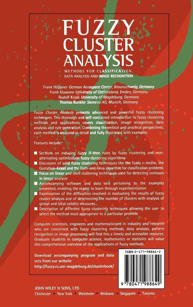 Fuzzy Cluster Analysis als Buch (gebunden)