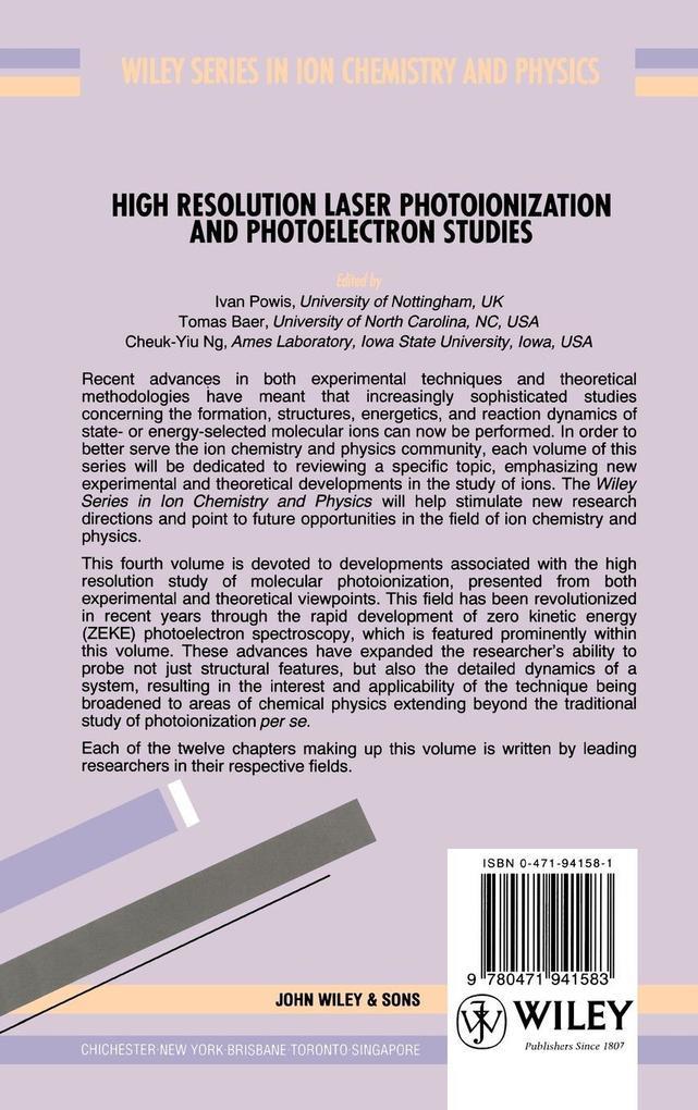 High Resolution Laser Photoionization als Buch (gebunden)