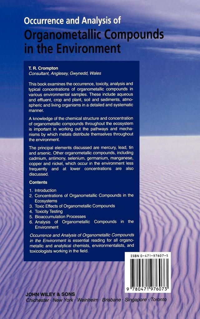 Occurance  Analysis of Organometallic als Buch (gebunden)