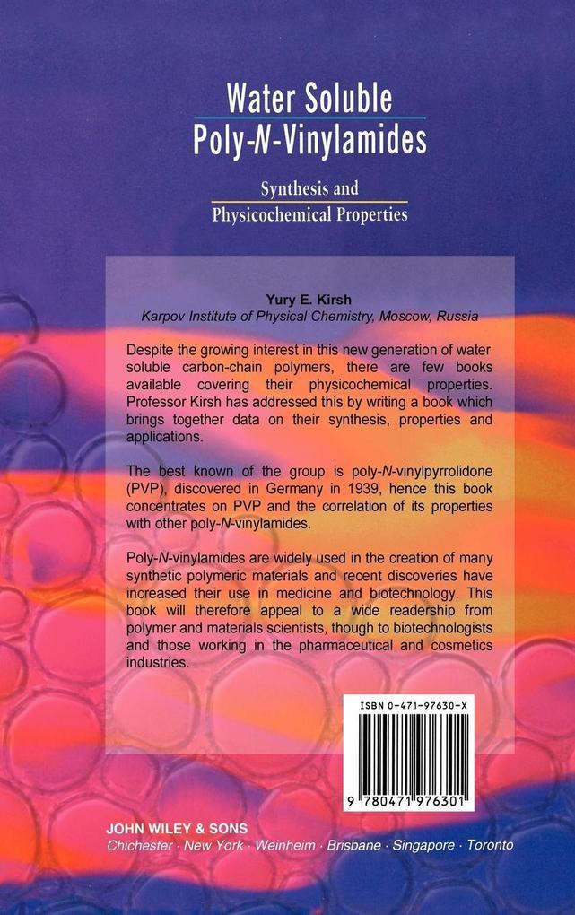 Water Soluble Poly-N-Vinylamides als Buch (gebunden)