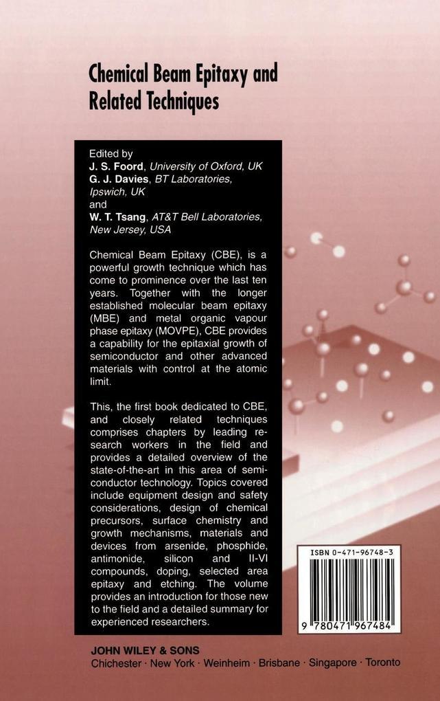 Chemical Beam Epitaxy  Related Techniqs als Buch (gebunden)