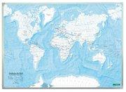 Weltkarte zum Ausmalen, Entdecke die Welt, Wandkarte 1:40 Mio., Markiertafel