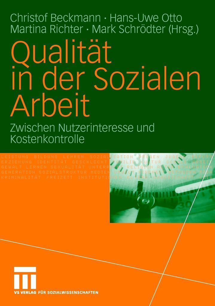 Qualität in der Sozialen Arbeit als Buch (kartoniert)
