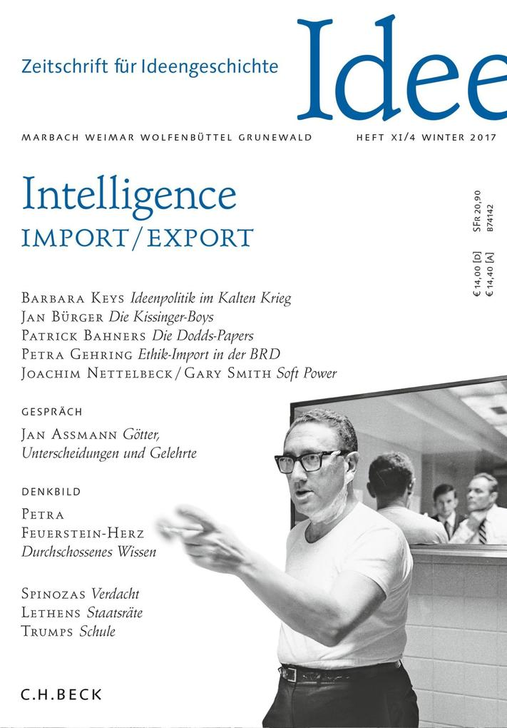Zeitschrift für Ideengeschichte Heft XI/4 Winter 2017 als eBook pdf