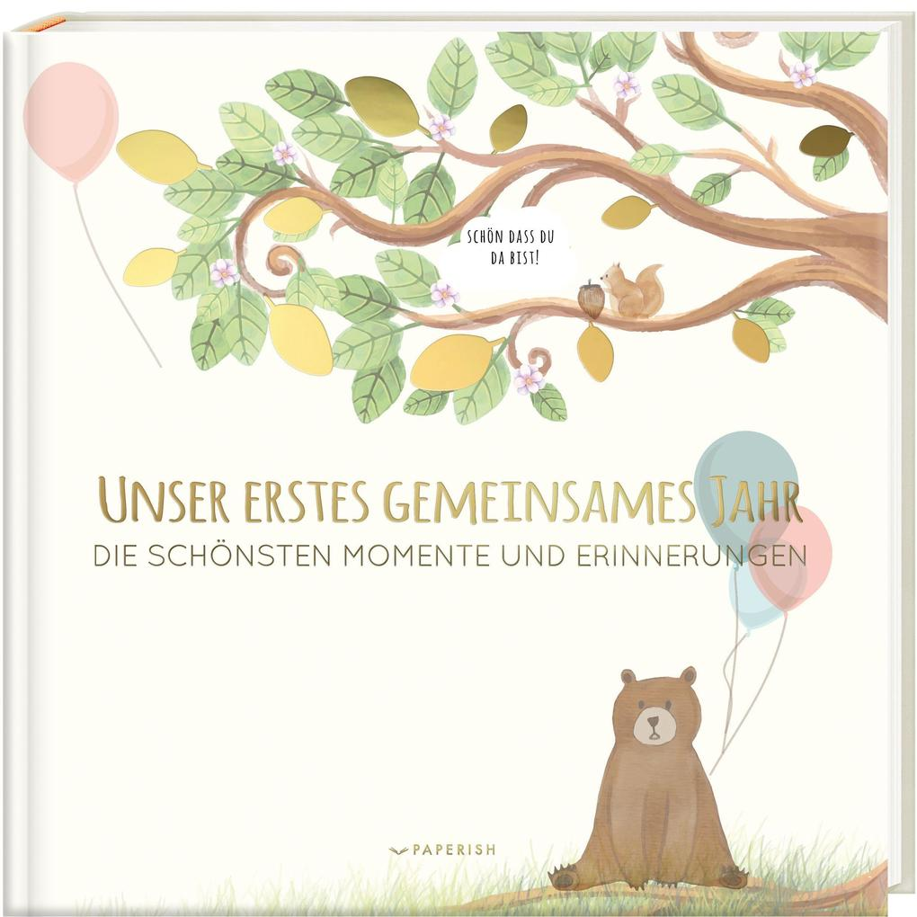 Babyalbum - UNSER ERSTES GEMEINSAMES JAHR als Buch (gebunden)
