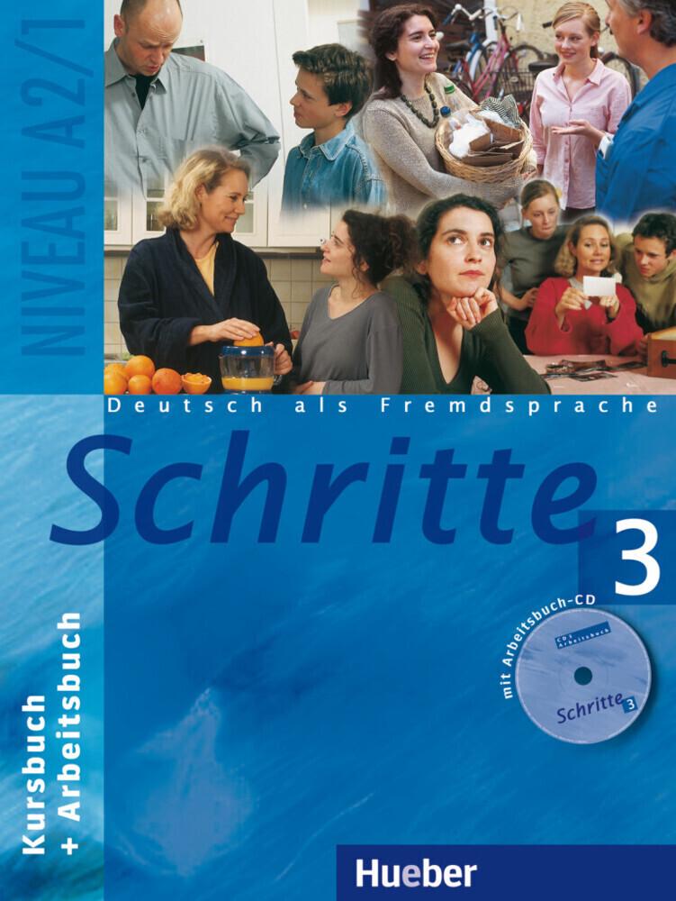 Schritte 3. Kursbuch und Arbeitsbuch mit CD als Buch (kartoniert)
