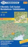 Tabacco Wandern 1 : 25 000 Il Montello -Colli Asolani Montebelluna-Valdobbiadene