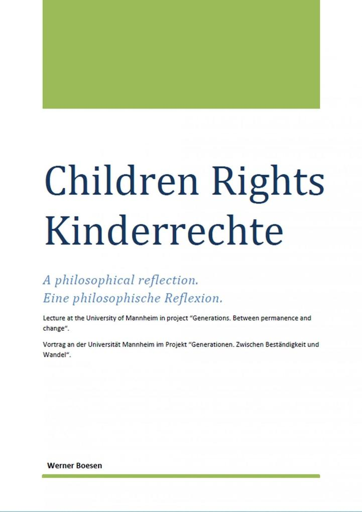 Children Rights - Kinderrechte als eBook epub