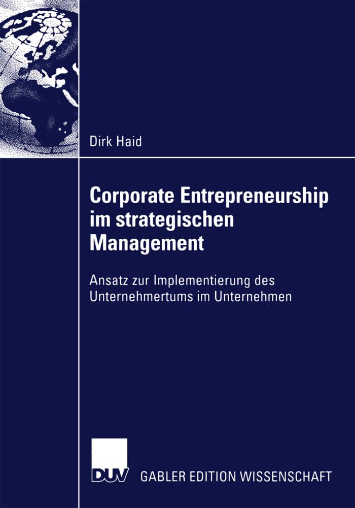 Corporate Entrepreneurship im strategischen Management als Buch (kartoniert)
