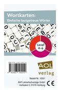 Wortkarten: Einfache lautgetreue Wörter - Level 4-6 (Kartenspiel)