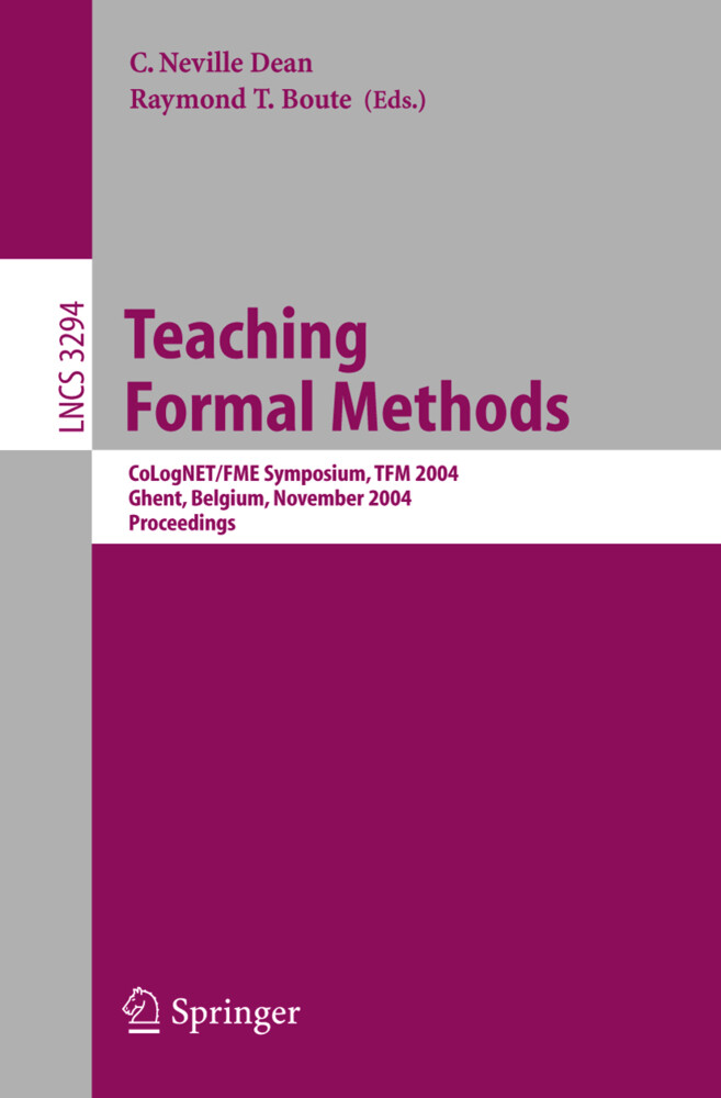 Teaching Formal Methods als Buch (kartoniert)