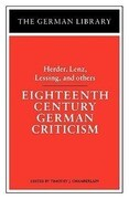 Eighteenth Century German Criticism