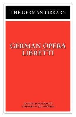 German Opera Libretti als Buch (kartoniert)