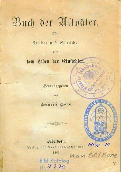 Heinrich Bone - Buch der Altväter als Buch (kartoniert)