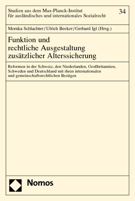 Funktion und rechtliche Ausgestaltung zusätzlicher Alterssicherung als Buch (kartoniert)
