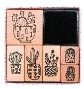 Stempelset, Hygge, Cactus