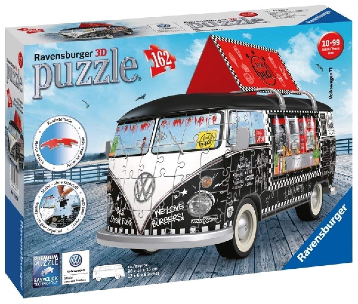 Ravensburger Puzzle - 3D Puzzle - Volkswagen T1 - Food Truck, 162 Teile als Spielware