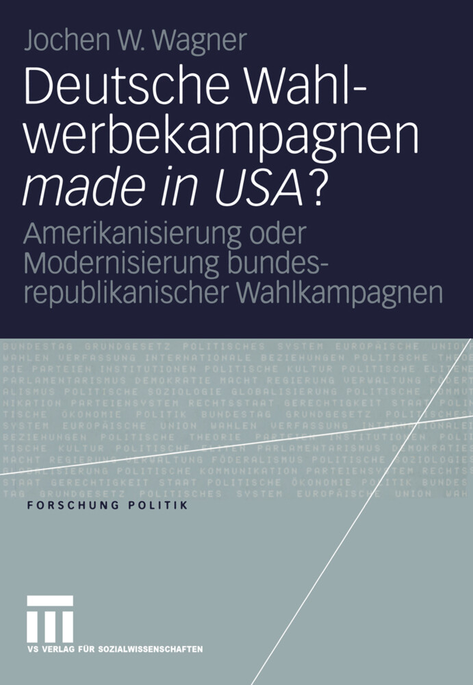 Deutsche Wahlwerbekampagnen made in USA? als Buch (kartoniert)