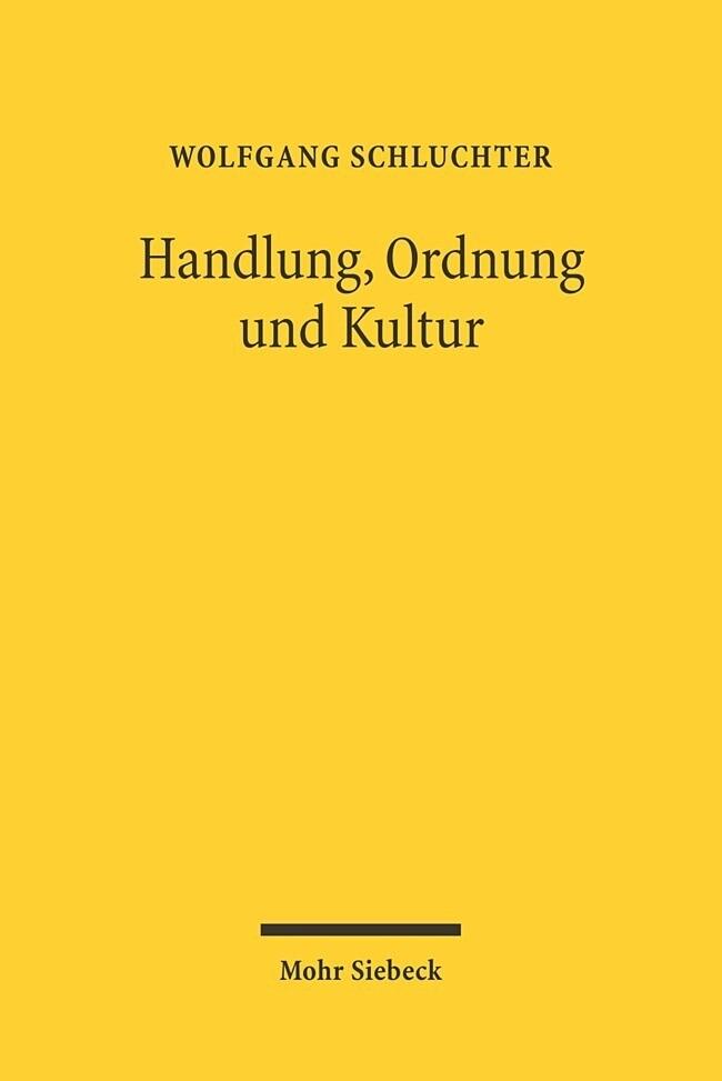Handlung, Ordnung und Kultur als Buch (kartoniert)