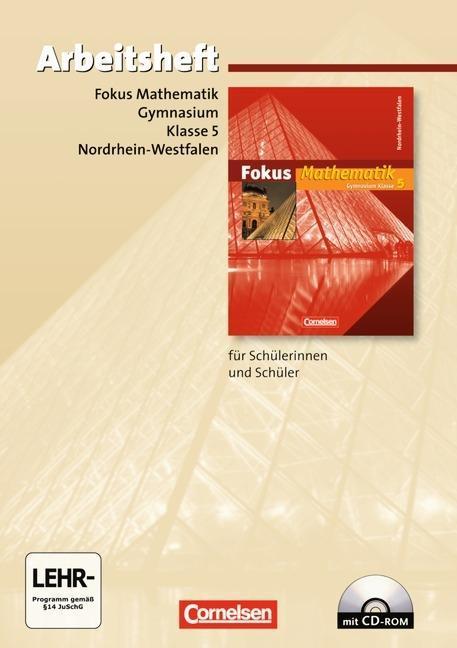 Fokus Mathematik 5. Schuljahr. Arbeitsheft. Gymnasium.Nordrhein-Westfalen.Mit CD und Lösungen als Buch (kartoniert)