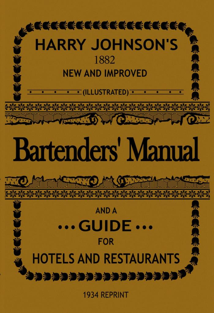Bartenders' Manual als eBook epub