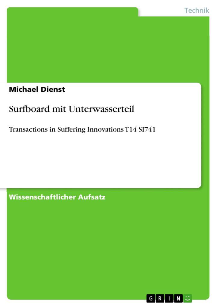 Surfboard mit Unterwasserteil als Buch (kartoniert)