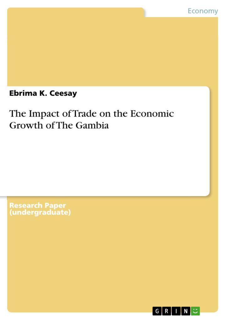 The Impact of Trade on the Economic Growth of The Gambia als Buch (kartoniert)