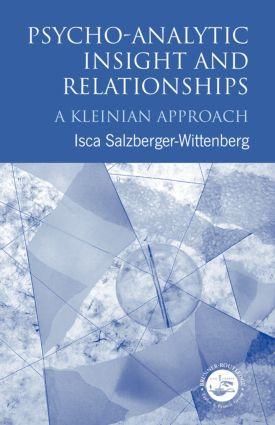 Psycho-Analytic Insight and Relationships als Buch (kartoniert)