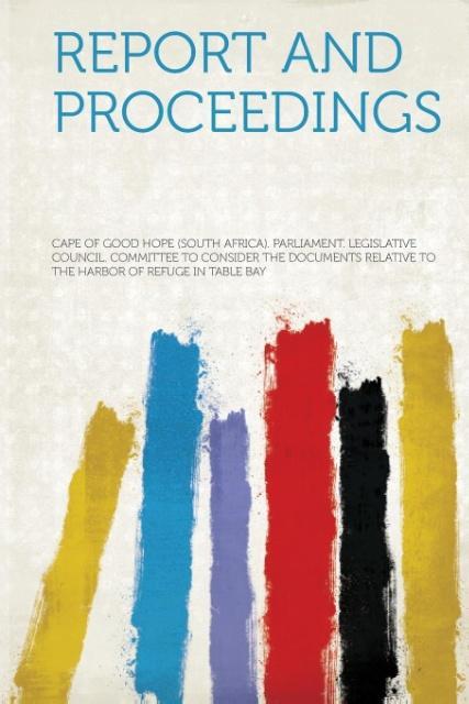 Report and Proceedings als Taschenbuch