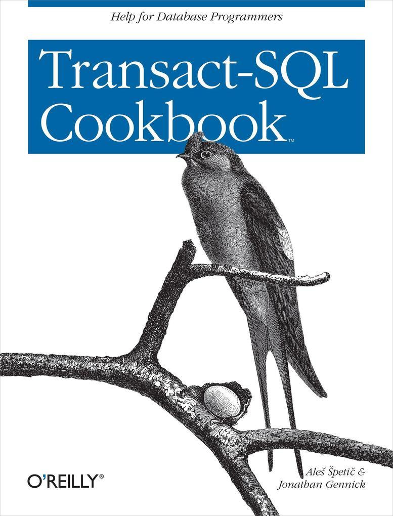 Transact-SQL Cookbook als Buch (kartoniert)