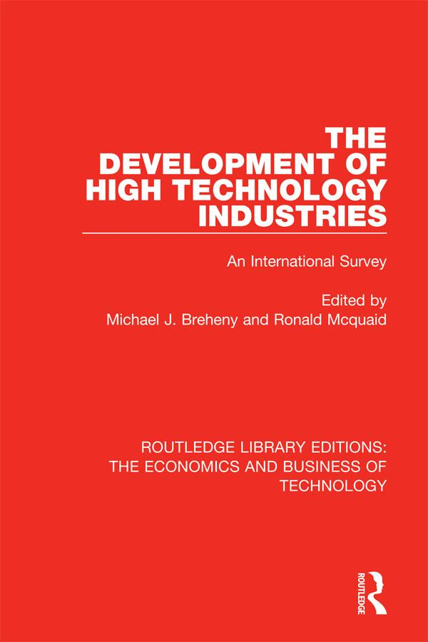 The Development of High Technology Industries als eBook pdf