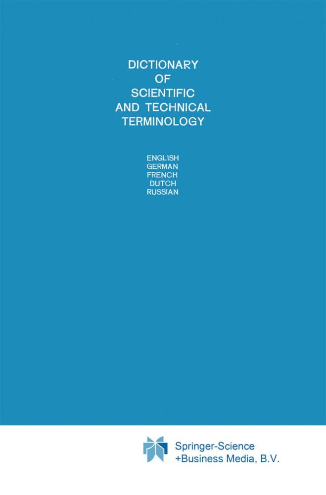 Dictionary of Scientific and Technical Terminology als Buch (gebunden)
