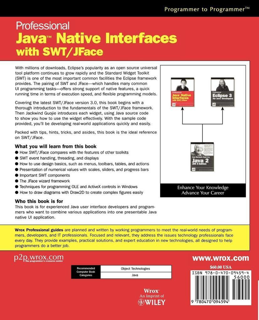 Prof Java Native Interfaces SWT/JFace als Buch (kartoniert)