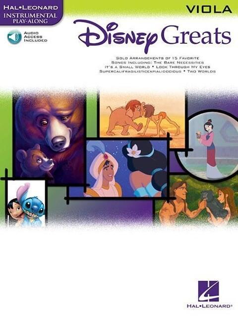 Disney Greats: For Viola Instrumental Play-Along Pack als Buch (gebunden)