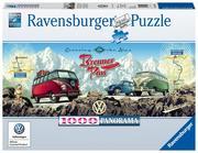 Ravensburger Spiel - Mit dem VW Bulli über den Brenner, 1000 Teile