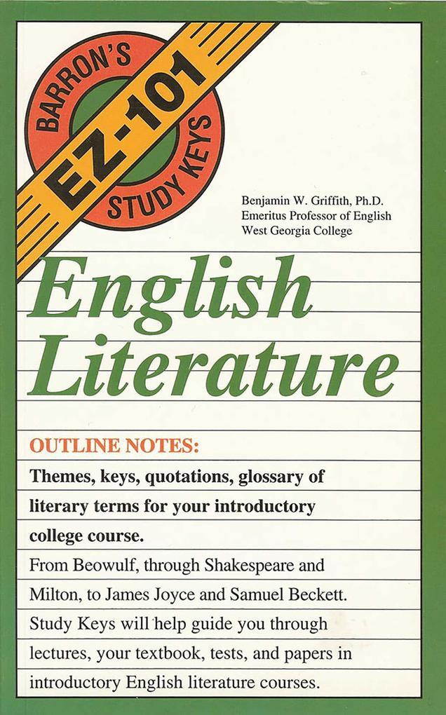 English Literature als Taschenbuch