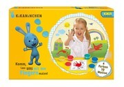 Simba 109464259 - Kikaninchen Fingermalfarben, 4 Farben, 10 Motivbögen