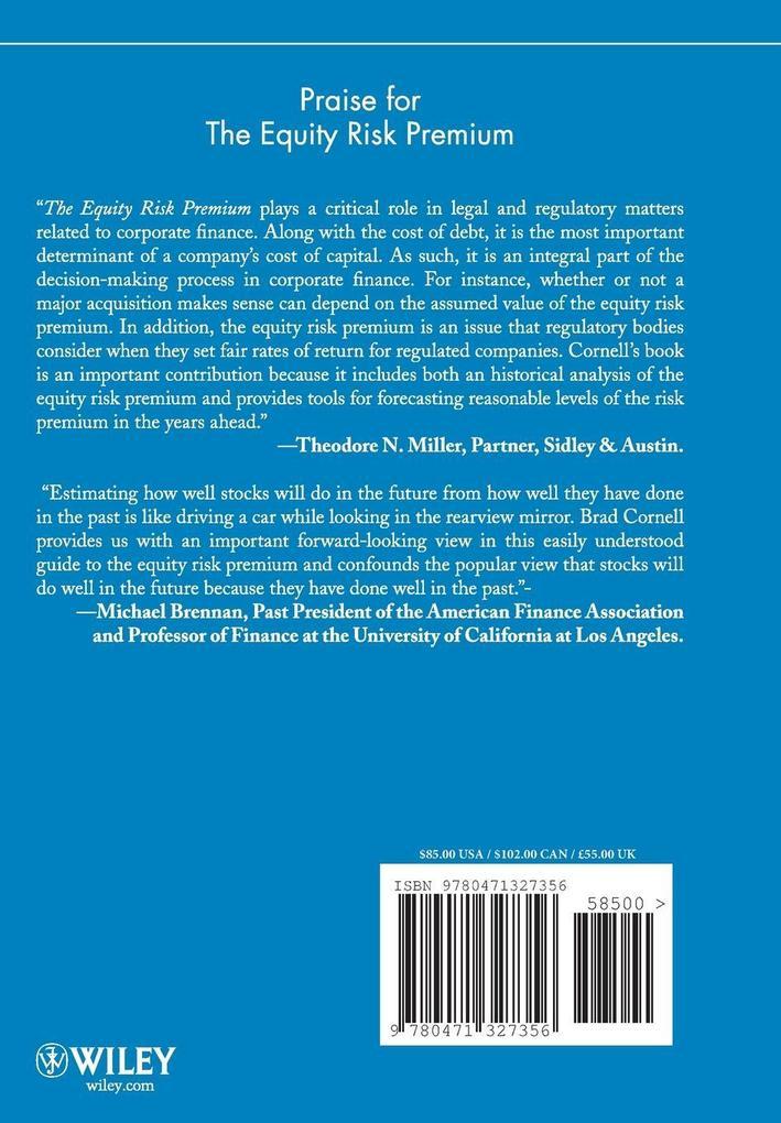 Equity Risk Premium als Buch (gebunden)