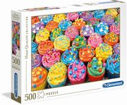 Clementoni - High Quality Collection - Colorful cupcakes, 500 Teile