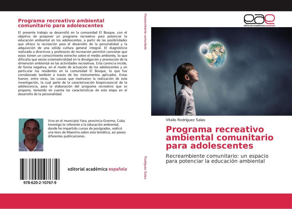 Programa recreativo ambiental comunitario para adolescentes als Buch (kartoniert)