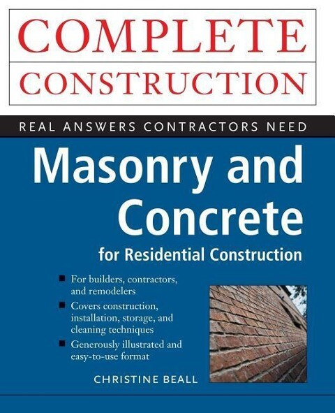 Masonry and Concrete Complete Construction als Taschenbuch