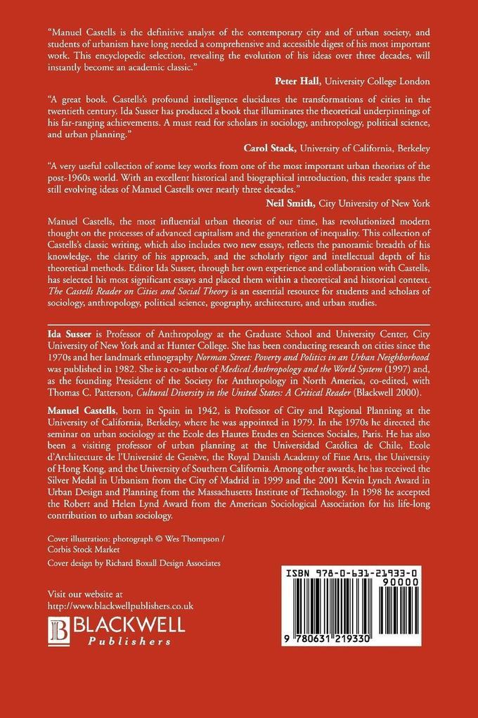 Castells Reader Cities Social Theory als Buch (kartoniert)