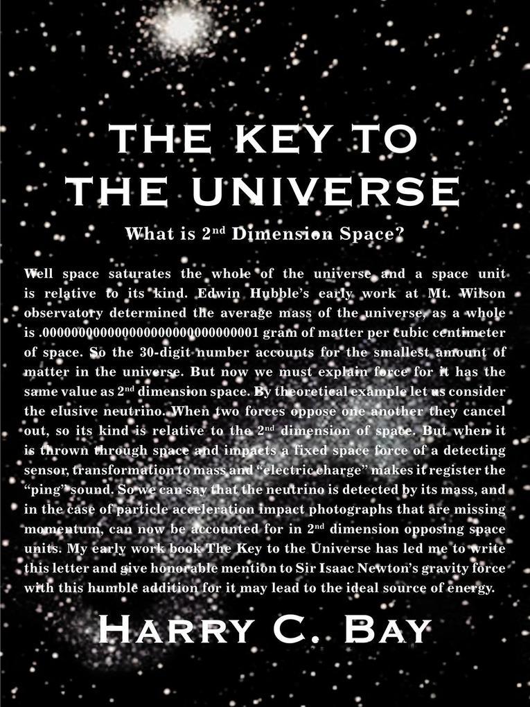 The Key to the Universe als Taschenbuch