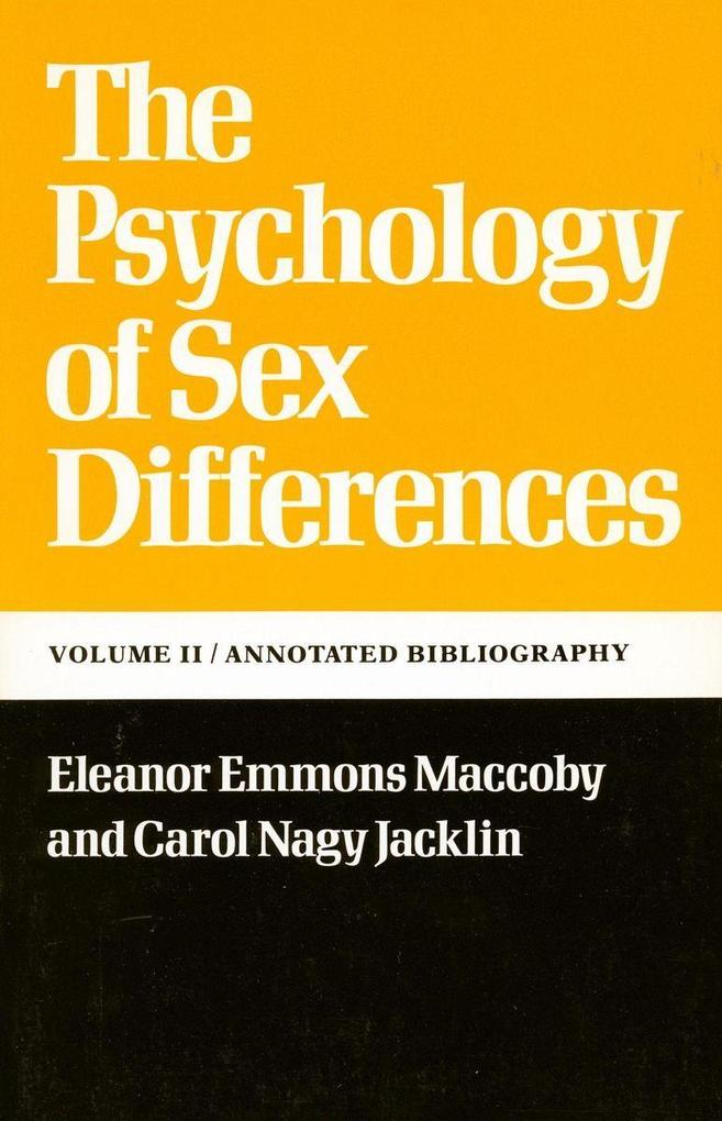 The Psychology of Sex Differences als Taschenbuch