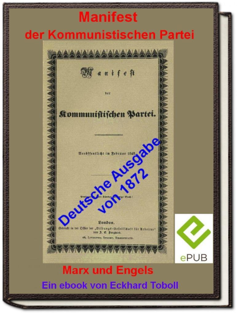 """""""Manifest der Kommunistischen Partei"""" (deutsche Ausgabe 1872) als eBook"""