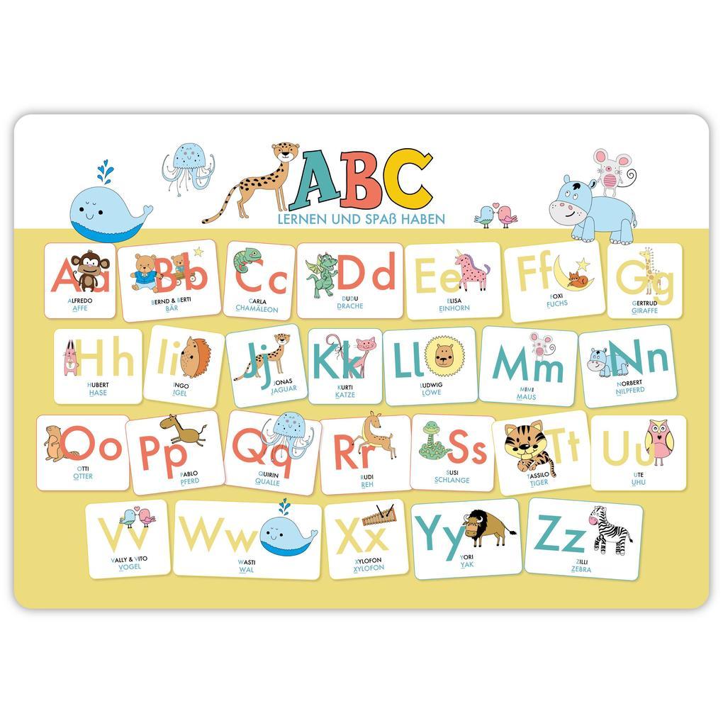 Hochwertiges ABC-Mini-Lernposter der Tiere (32,4 x 45,8 cm): Stabiler Karton, folienbeschichtet, abwischbar. als Sonstiger Artikel