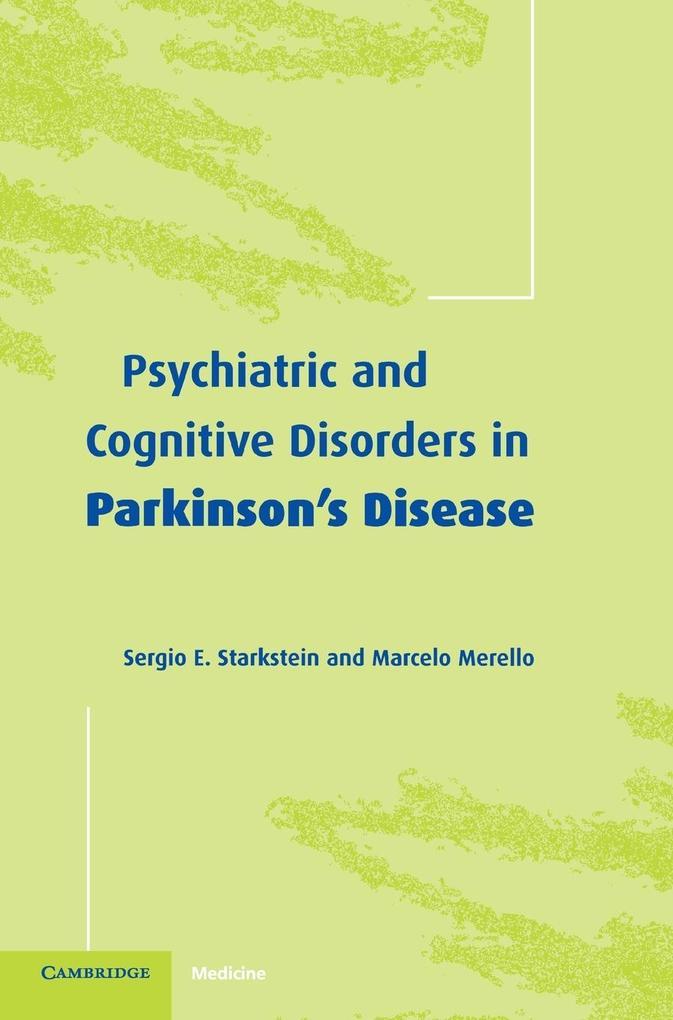 Psychiatric and Cognitive Disorders in Parkinson's Disease als Buch (gebunden)
