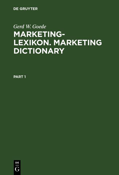 Marketing-Lexikon. Marketing Dictionary als eBook pdf