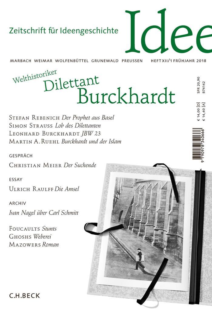 Zeitschrift für Ideengeschichte Heft XII/1 Frühjahr 2018 als eBook pdf